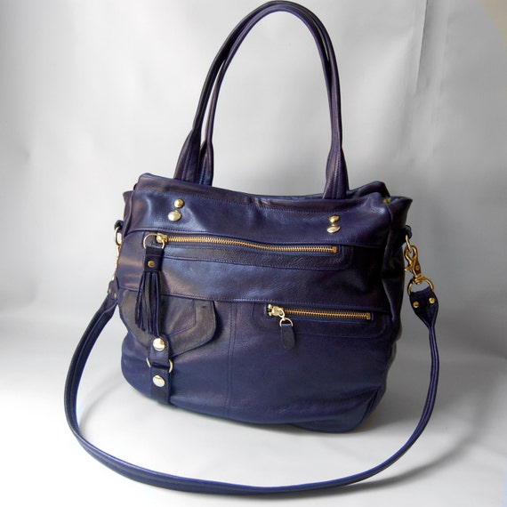 Ready to ship - 6 pocket Classic Okinawa bag in deep blue - REDUCED