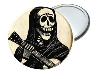 """Mirror - Day of the Dead Guitar Skeleton Man image 2.25"""""""