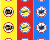 Superhero cupcake toppers - digital files