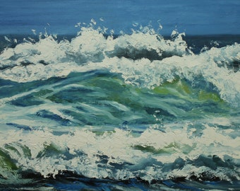Print of  Wave 16 16x24 inch Roz painting