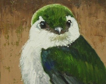 Bird 114 10x10 inch Print from oil painting by Roz