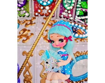 carnival doll print aceo size CAROU SALLY