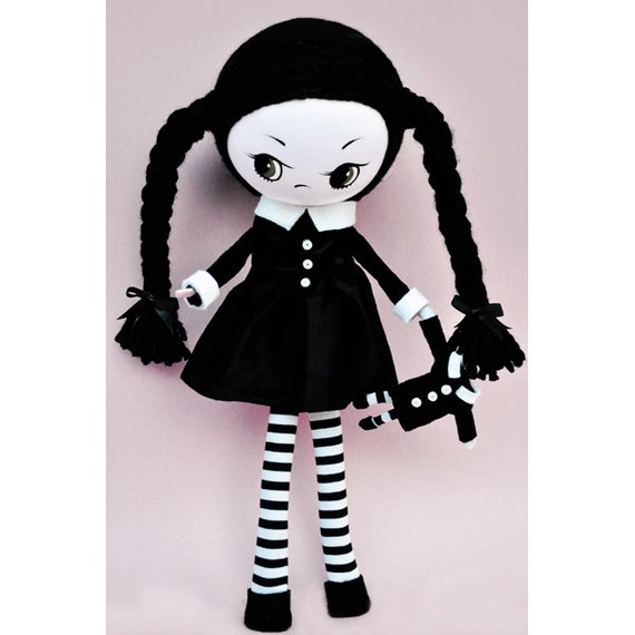 poseable plush doll This is Wednesday CUSTOM ORDER for Sharna