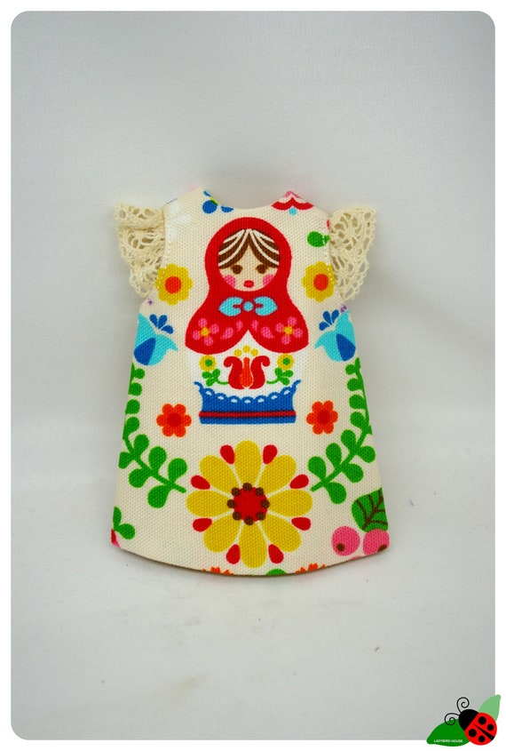 LADYBIRD HOUSE Blythe Outfit Russian Dolls Dress