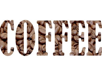 Kitchen Print Hostess Art Home Decor 5x7 inch Print of Coffee Beans Brown Wall Art Kitchen Decor Food Photography Typography Hostess
