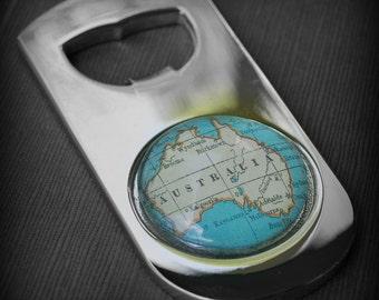 Australia Bottle Opener - Vintage Map - Great Groomsmen Gift