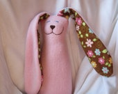 SALE fleece bunny in pink RTS ready to ship