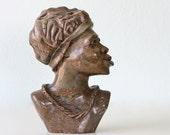 RESERVED Vintage Marble Woman's Bust