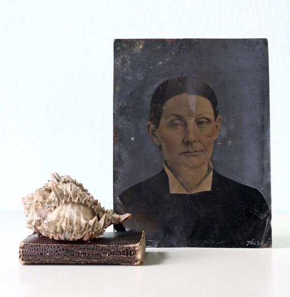 Vintage Tintype Photograph of Woman