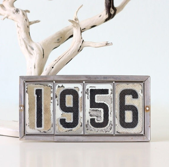 Vintage Address Sign 1956