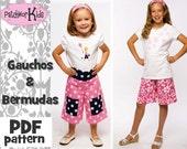 Bermudas and Gauchos Ebook Pattern PDF - Sizes 4-14 Girls Tween Teen