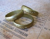 1 PC Unfinished Raw Brass Ring Band / Love - Sz 6 - VV19