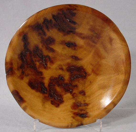 Reserve for Mike Joly only Obsidian Burl Ring or Coin Dish Turned Wood Bowl number 4658 by Bryan Tyler Nelson