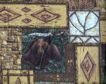 Fabric Black Bear Mountain Spring Industries Fat Quarters