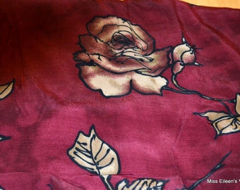 Fabric Roses on Cranberry One Yard