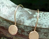 ITTY BITTY DOTS solid 14k gold drop earrings by Crazy Daisy Designs