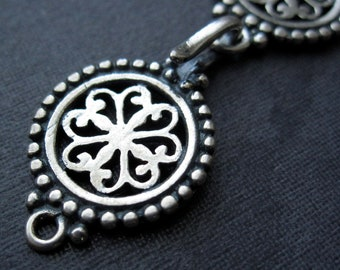 Light of India -  Solid Sterling Silver hook and eye clasp - 44mm X 14mm