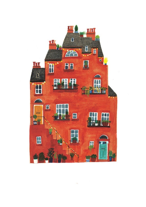 Red House Giclee Print