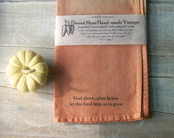 Natural Kitchen / Fabric Napkins / Rustic Cloth Napkins / Ombre / Farmhouse Dinning / Dinner Napkin // Set of 4