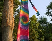 Rainbow Tie Dye Cotton Good Luck Banner Star Streamer