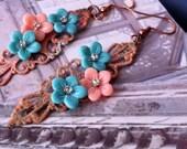 Filigree Bohemian Gypsy Chic Earrings-Romance