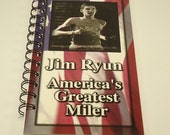 Jim Ryun   America's Greatest Miler Upcycled Sprial Bound Notebook