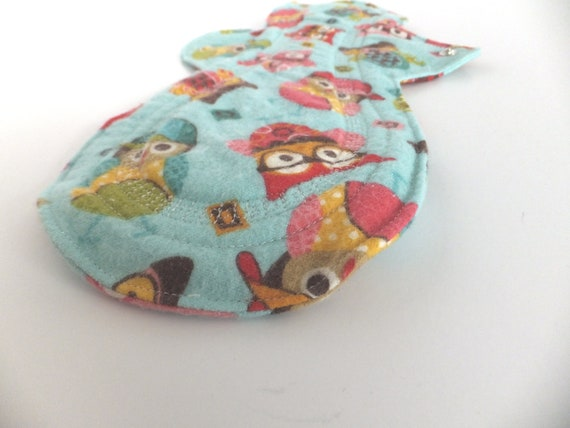 Overnight or Heavy Flow Cloth Pad -- Periods are a HOOT Flannel -- Kiki Pad