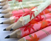 S A L E mini japanese paper-wrapped pencils - set of 10 - limited edition - autumn arrival