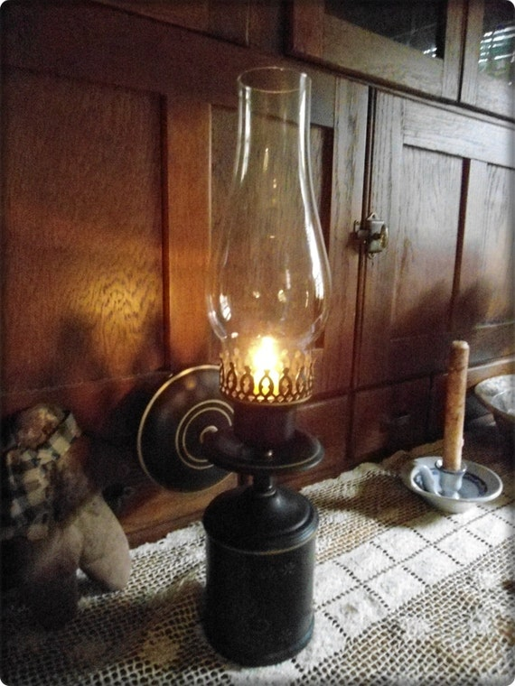 Wall Hurricane Lamps : Large Candle Holder Wall Mount Hurricane by heartfeltprimitives