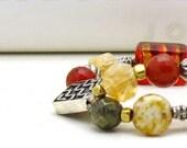 RES for Maria - Modern Gemstone Beaded Bracelet / Boho Geometric Sterling Silver Bracelet / Bohemian / Luxe / Mod / Gemstone