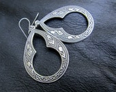 Silver bohemian earrings, Gift for Her Gypsy Moon Designs boho jewelry