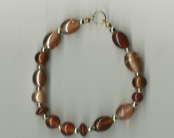 brown glass bracelet stretchy