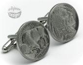 Cufflinks - Indian Head / Buffalo Nickel
