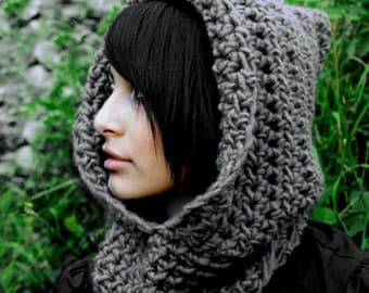 The Fishermans Hood cowl Womens winter scarf mens Wool Pick Your Color