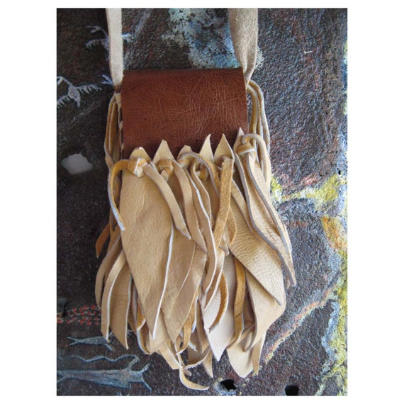 Leather Cell Phone Pouch - Fringes