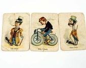 Vintage Victorian Single Swap Set of Three Playing Cards - LaFeria