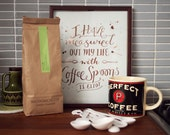 Coffee Spoons - typographic print