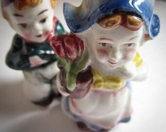 Vintage Dutch Boy and Girl Salt and Pepper  JAPAN