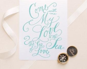 "Sea of Love - 8x10"" digital print"