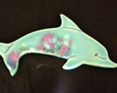 Ceramic Dolphin wall tile
