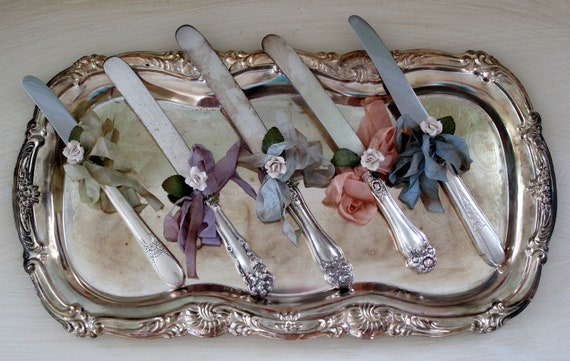 Vintage Silver Letter Openers - Got Mail Glamour Girl Desk Accessories - Back to School - One of a Kind