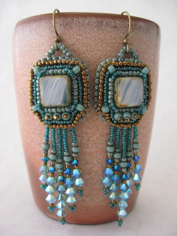Aqua Nouveau Earrings