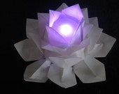Origami Lotus Flower Table Lighting Decoration, place card holder, party favor gift