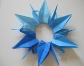 "500 Origami Crane 6"" in Blue Shade"