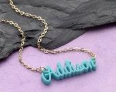 Laser Cut Acrylic Name Necklace