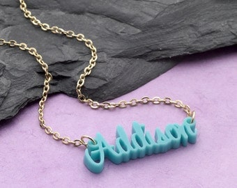 Laser Cut Acrylic Name Necklace