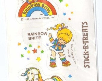 Vintage 1983 Hallmark Stick-r-Treats Rainbow Brite Sticker NIP