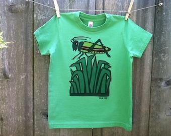 Grasshopper on a Green Tee sizes 2, 4, 6, 8, 10, 12