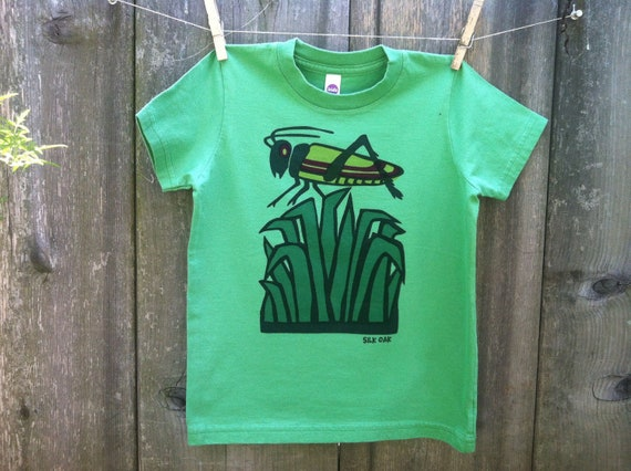 Grasshopper on a Green Tee sizes 2, 4, 6, 8, 10, 12