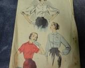 Advance 50's Vintage Blouse Pattern